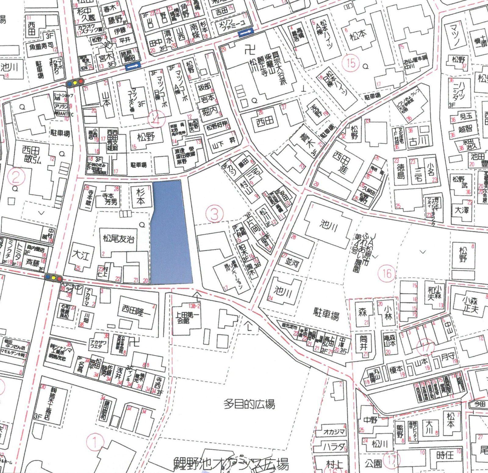 現場近隣地図